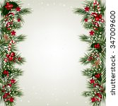 christmas background with tree... | Shutterstock .eps vector #347009600