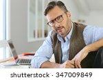 handsome man with eyeglasses... | Shutterstock . vector #347009849