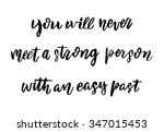 hand drawn vector lettering.... | Shutterstock .eps vector #347015453