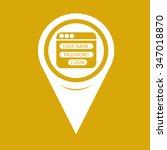map pin pointer website login... | Shutterstock .eps vector #347018870