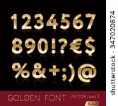 golden alphabetic fonts and... | Shutterstock .eps vector #347020874