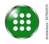 menu   green  vector icon