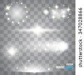 magic lights effects. set.... | Shutterstock .eps vector #347028866