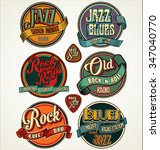 rock  jazz and blues retro... | Shutterstock .eps vector #347040770