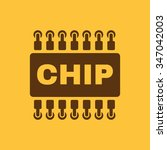 the chip icon. microchip and... | Shutterstock .eps vector #347042003