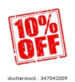 10  off red stamp text on white | Shutterstock .eps vector #347042009