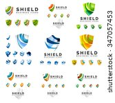 set of company logotype... | Shutterstock .eps vector #347057453