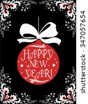 typographical greeting card.... | Shutterstock .eps vector #347057654