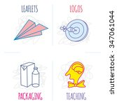 childish scribbles icons set ... | Shutterstock .eps vector #347061044