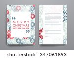 set of brochure  poster... | Shutterstock .eps vector #347061893