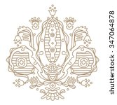 royal fleur de lis   detailed... | Shutterstock .eps vector #347064878