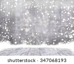 empty concrete when snowing and ... | Shutterstock . vector #347068193