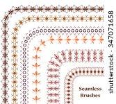 set seamless brushes. border...   Shutterstock .eps vector #347071658