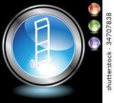 hand truck icon chrome   Shutterstock .eps vector #34707838