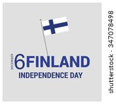 finland independence day... | Shutterstock .eps vector #347078498
