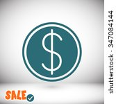 dollar icon. one of set web...