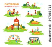 playground infographic elements ... | Shutterstock .eps vector #347085713