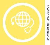 global medicine vector icon.... | Shutterstock .eps vector #347086973