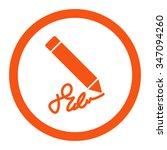 writing pencil vector icon....   Shutterstock .eps vector #347094260