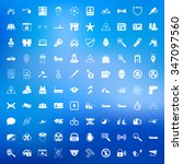 police icons set. | Shutterstock . vector #347097560