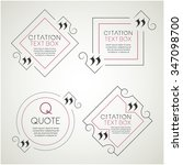 set of the citation text box.... | Shutterstock .eps vector #347098700