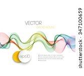 vector abstract smoky waves ...   Shutterstock .eps vector #347100659