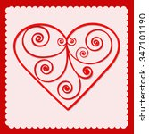 red paper heart valentines day... | Shutterstock .eps vector #347101190