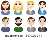 cartoon vector people avatars | Shutterstock .eps vector #347103374