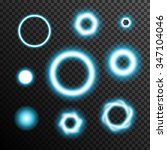glowing light burst circles on... | Shutterstock .eps vector #347104046