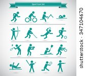 sports icon set | Shutterstock .eps vector #347104670
