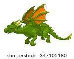 Green Cartoon Fantasy Dragon ...