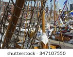 tackles of the boat in amsterdam | Shutterstock . vector #347107550