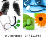 various homeopathy related... | Shutterstock . vector #347111969