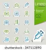 lineo papercut   medical and... | Shutterstock .eps vector #347112890