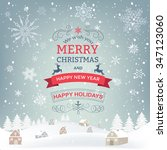 new year and christmas... | Shutterstock .eps vector #347123060