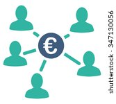 euro client payments glyph icon.... | Shutterstock . vector #347130056