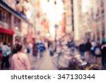 blurred background   dotonbori...   Shutterstock . vector #347130344
