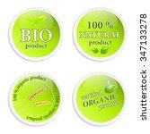 set of green natural vector... | Shutterstock .eps vector #347133278