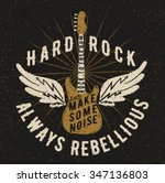 rock music graphic design with... | Shutterstock .eps vector #347136803