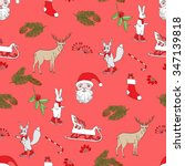 seamless pattern with... | Shutterstock .eps vector #347139818