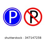 collection parking and no... | Shutterstock .eps vector #347147258