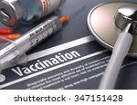 vaccination. medical concept... | Shutterstock . vector #347151428