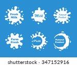 milk splash vector set | Shutterstock .eps vector #347152916