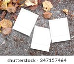 three square instant photo... | Shutterstock . vector #347157464