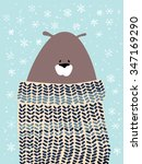 christmas greeting card with... | Shutterstock .eps vector #347169290