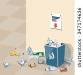 illustration of littering waste ... | Shutterstock .eps vector #347174636