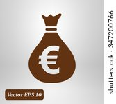 money bag icon. euro eur...