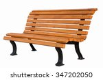 wooden street bench for... | Shutterstock . vector #347202050