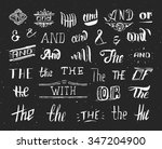 vintage style hand drawn... | Shutterstock .eps vector #347204900