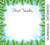 christmas fir tree frame with... | Shutterstock .eps vector #347206550
